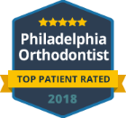 philadelphia orthodontists Top Patient Rated badge 2018