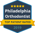 philadelphia orthodontists Top Patient Rated badge 2019