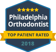 philadelphia orthodontists Top Patient Rated badge