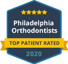 philadelphia orthodontists Top Patient Rated badge 2020
